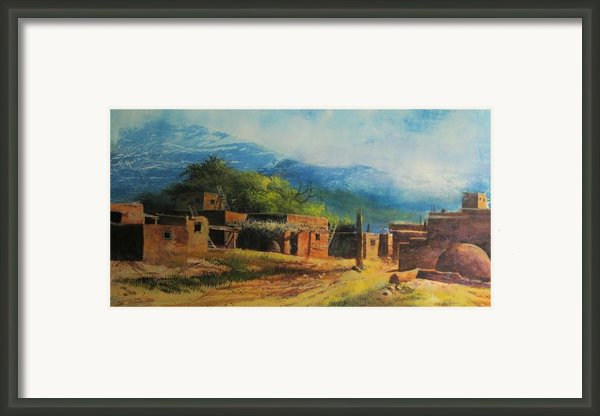 Southwest Village Framed Print By Robert Carver