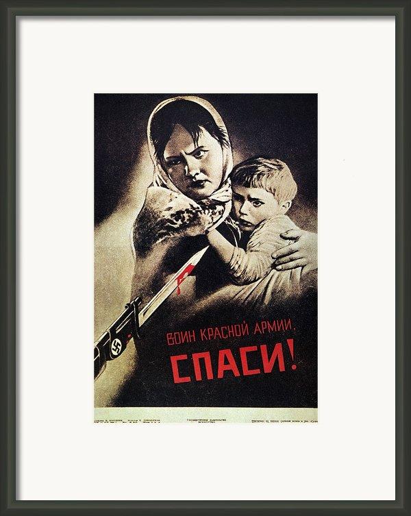 Soviet Poster, 1942 Framed Print By Granger