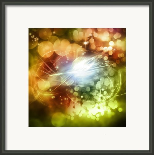 Space Background Framed Print By Les Cunliffe