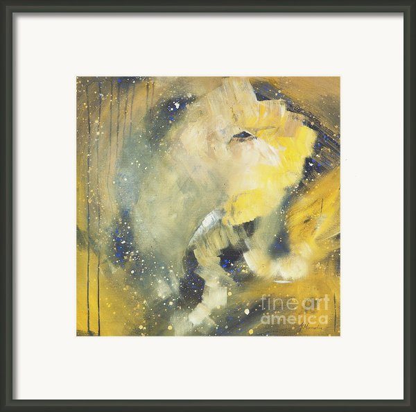 Space Elephant Framed Print By Kate Maconachie