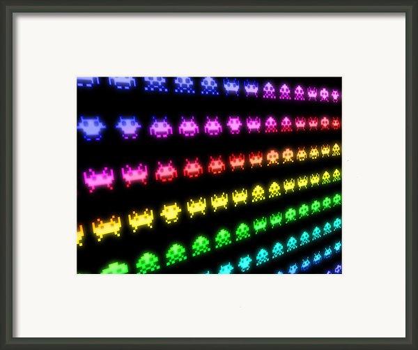 Space Invaders Framed Print By Michael Tompsett