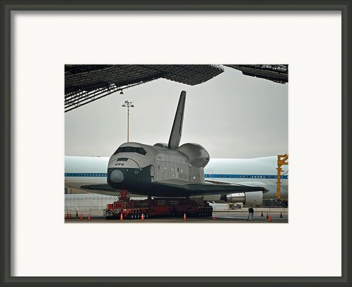 Space Shuttle Enterprise Framed Print By Jennifer Lapoint