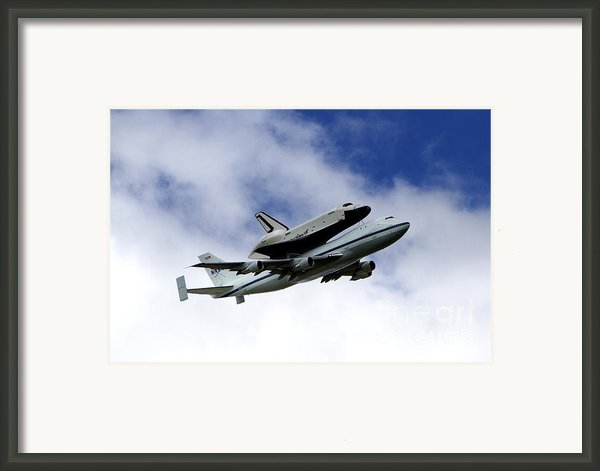 Space Shuttle Enterprise Framed Print By Thanh Tran
