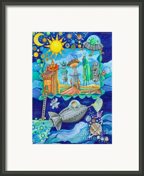 Space Station  Framed Print By Sonja Mengkowski