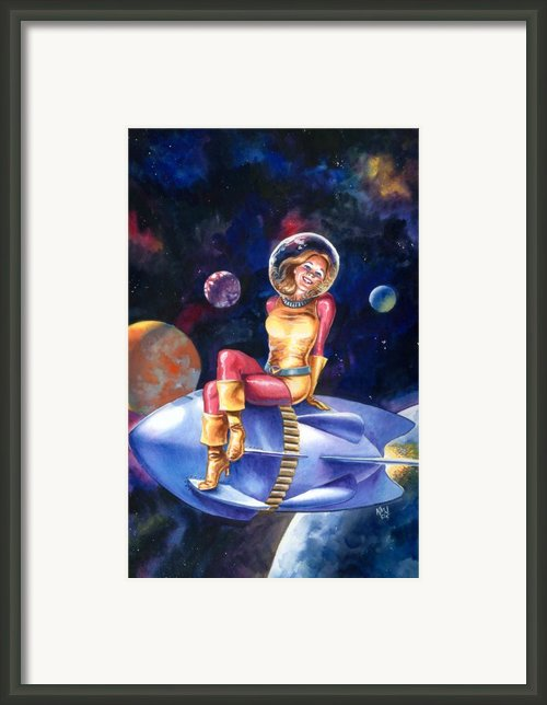 Spacegirl Framed Print By Ken Meyer Jr