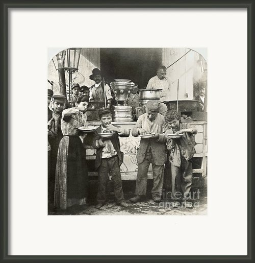 Spaghetti Vendor, C1908 Framed Print By Granger