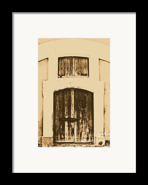 Spanish Fort Door Castillo San Felipe Del Morro San Juan Puerto Rico Prints Rustic Framed Print By Shawn O