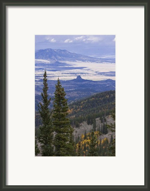 Spanish Peaks Framed Print By Charles Warren