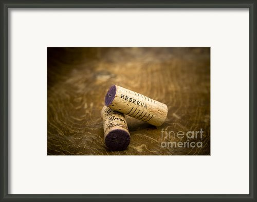 Spanish Wine Corks - Reserva And Gran Reserva Framed Print By Frank Tschakert