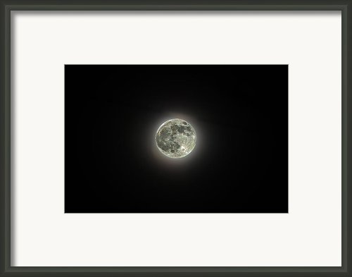 Sparkle Moon Framed Print By Paul Mashburn