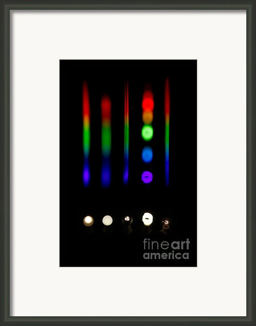Spectra Of Energy Efficient Lights Framed Print By Ted Kinsman