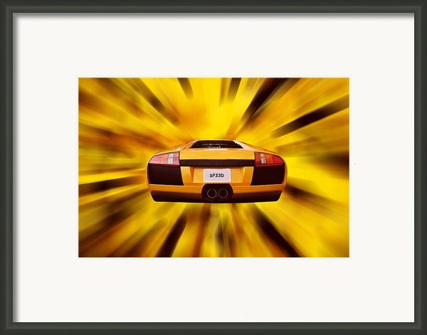 Speed Framed Print By Sharon Lisa Clarke