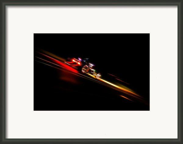 Speeding Hot Rod Framed Print By Phil