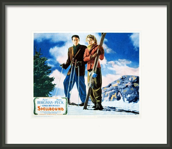 Spellbound, Gregory Peck, Ingrid Framed Print By Everett