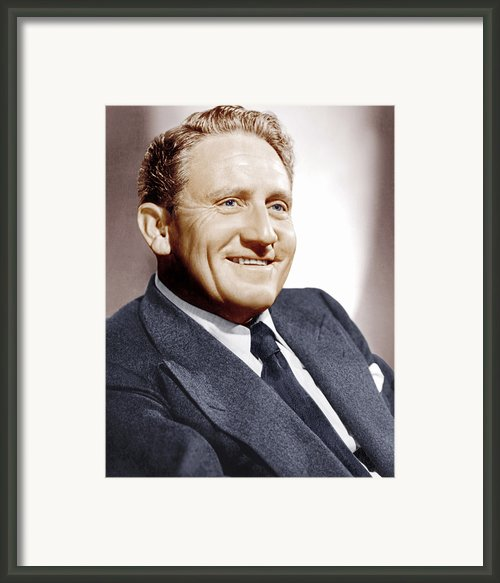 Spencer Tracy, Ca. 1940s Framed Print By Everett