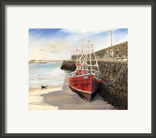 Spiddal Pier Framed Print By Vanda Luddy