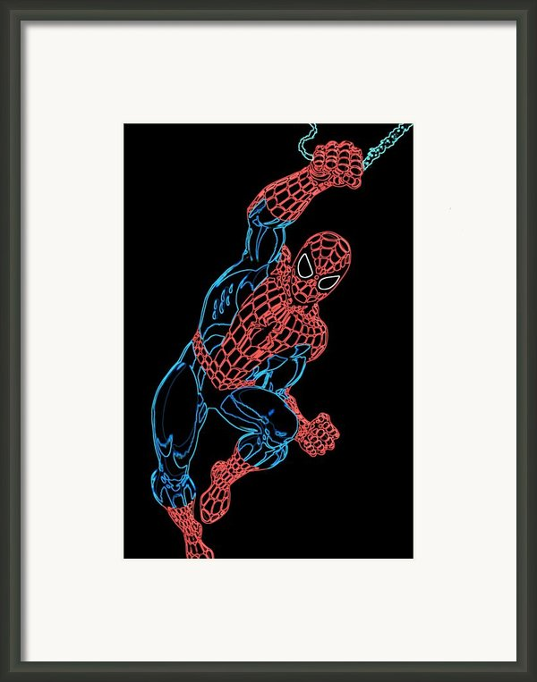 Spider Man Framed Print By Db Artist