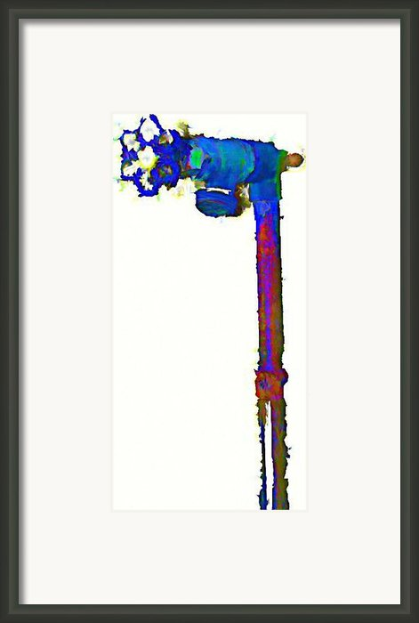 Spigot In Blue Framed Print By J Erik Leiff