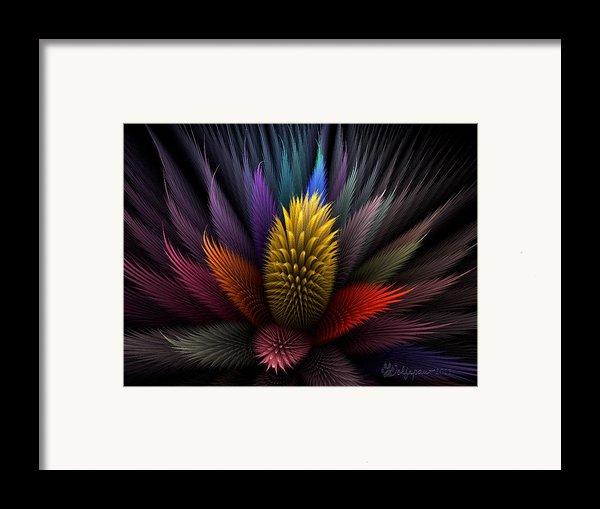 Spiky Botanical Framed Print By Peggi Wolfe