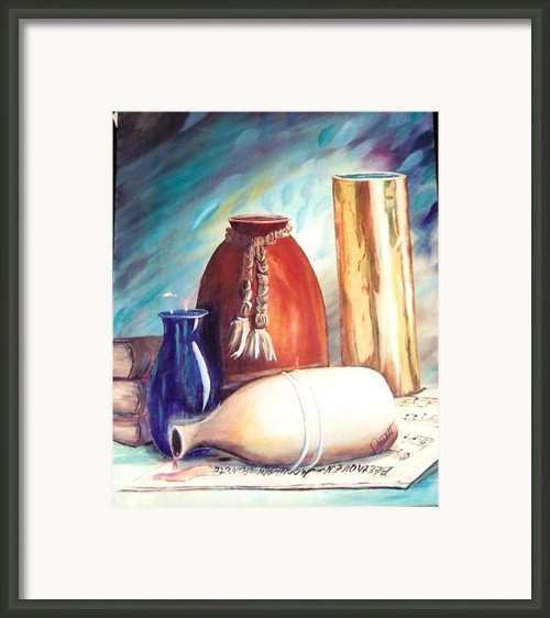 Spill Over Beethoven Framed Print By Joan Gossett