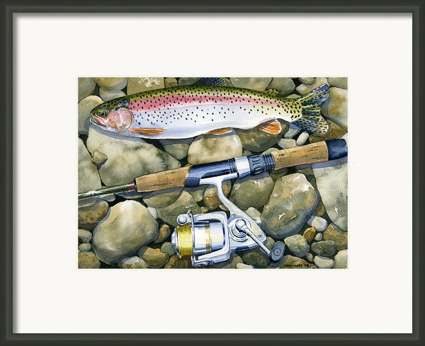 Spin Trout Framed Print By Mark Jennings