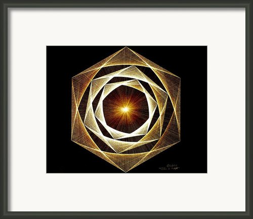Spiral Scalar Framed Print By Jason Padgett