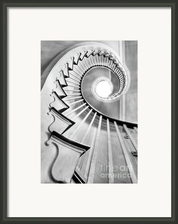 Spiral Staircase Lowndes Grove  Framed Print By Dustin K Ryan