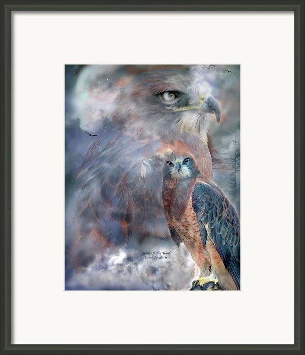 Spirit Of The Hawk Framed Print By Carol Cavalaris
