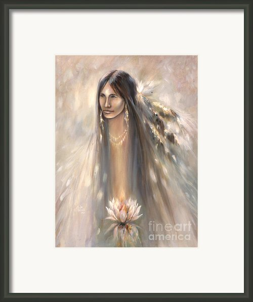 Spirit Woman Framed Print By Charles Mitchell