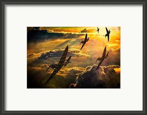 Spitfire Attack Framed Print By Chris Lord