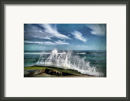 Splash Happy Framed Print By Kym Clarke