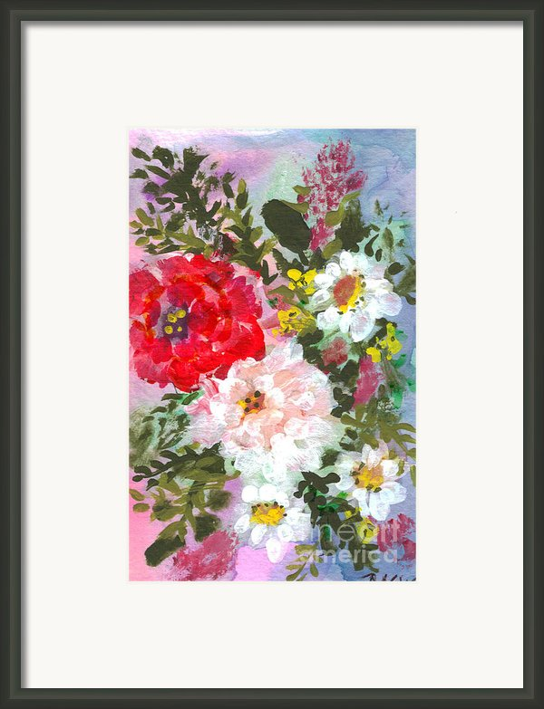Splashy Flowers Framed Print By Debbie Wassmann