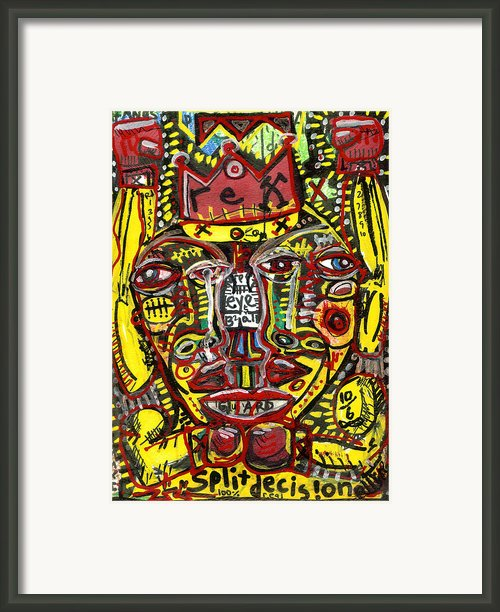 Split Decision Framed Print By Robert Wolverton Jr
