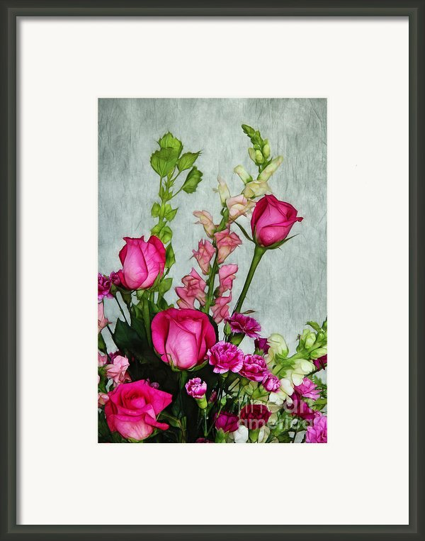 Spray Of Flowers Framed Print By Judi Bagwell