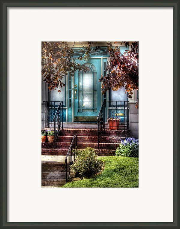 Spring - Door - Apartment Framed Print By Mike Savad