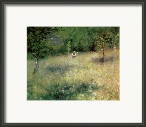 Spring At Chatou Framed Print By Pierre Auguste Renoir
