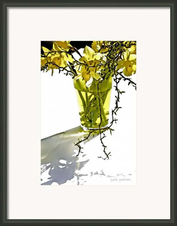 Spring Bouquet Framed Print By Barb Pearson