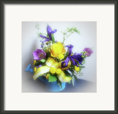 Spring Bouquet Framed Print By Sandy Keeton