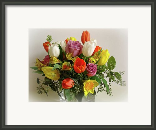 Spring Flowers Framed Print By Sandy Keeton