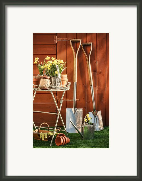 Spring Gardening Framed Print By Christopher And Amanda Elwell