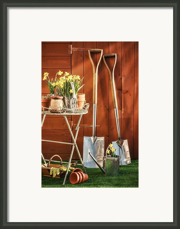 Spring Gardening Framed Print By Christopher And Amanda Elwell
