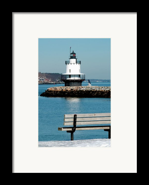 Spring Point Ledge Lighthouse Framed Print By Greg Fortier