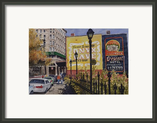 Spring Street At Basin Park Framed Print By Sam Sidders