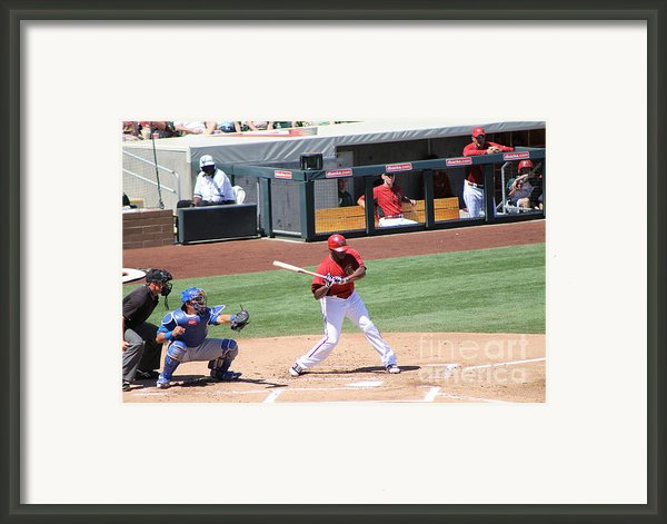 Spring Training 12-4-8 Framed Print By Pamela Walrath