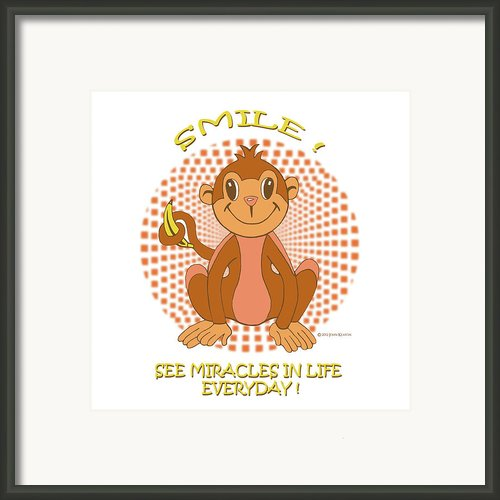 Spunky The Monkey Framed Print By John Keaton