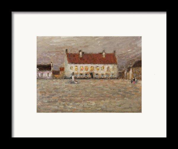 Square - Fort-philippe Framed Print By Henri Eugene Augustin Le Sidaner