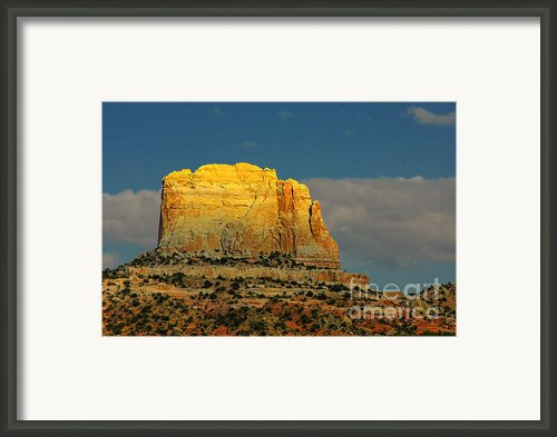 Square Butte - Navajo Nation Near Kaibeto Az Framed Print By Christine Till