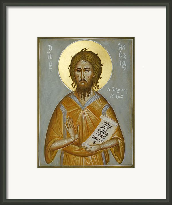 St Alexios The Man Of God Framed Print By Julia Bridget Hayes