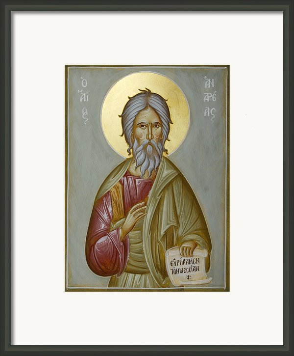 St Andrew The Apostle And First-called Framed Print By Julia Bridget Hayes