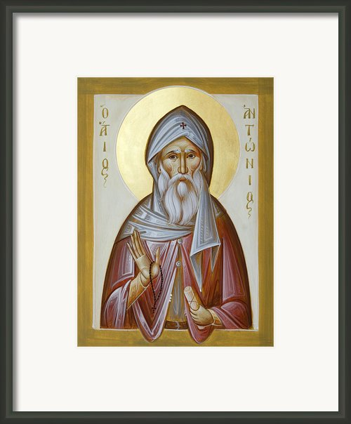 St Anthony The Great Framed Print By Julia Bridget Hayes
